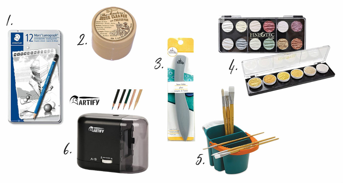 Gift ideas for artists & makers; how to add to their tool belt this holiday season! From danielle & co.