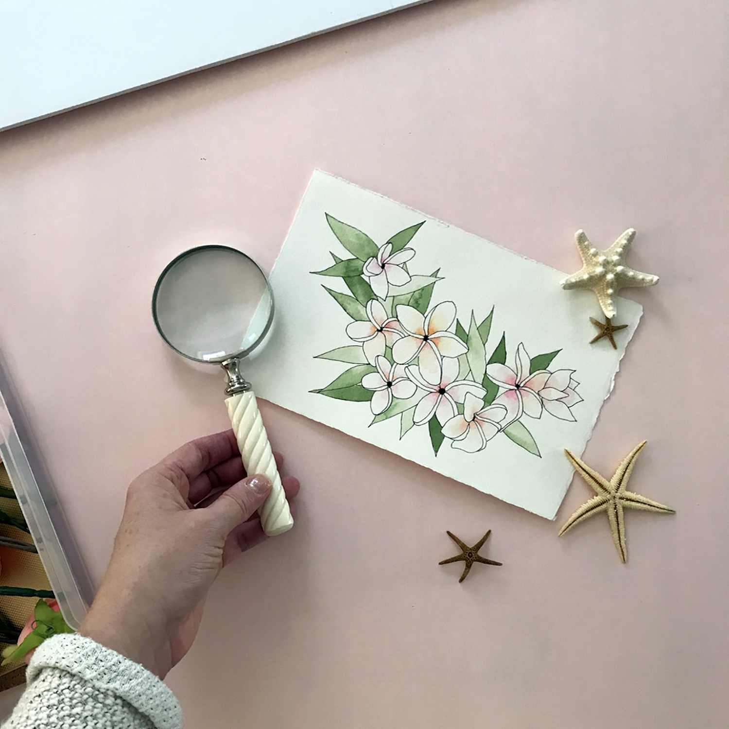 How to style flatlay photos of your artwork or products - tips & tricks for showcasing your work for listing images, marketing, and social media use, from danielleandco.com