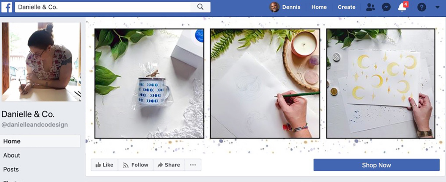 I just popped three of my favorite recent Instagram images into a template and have a fresh new Facebook page header. 19 ways to squeeze every last drop from your content, on danielleandco.com.