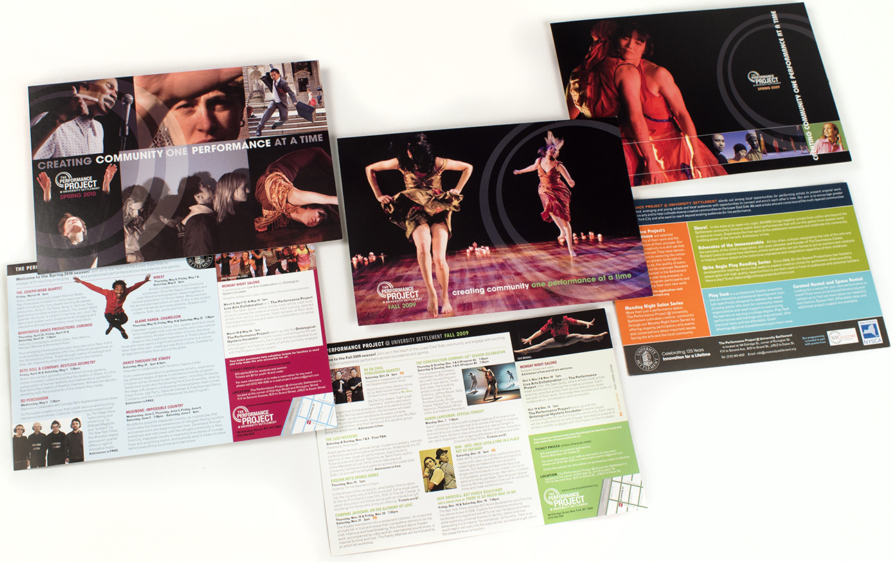 Postcards and Marketing Materials for The Performance Project /  Design