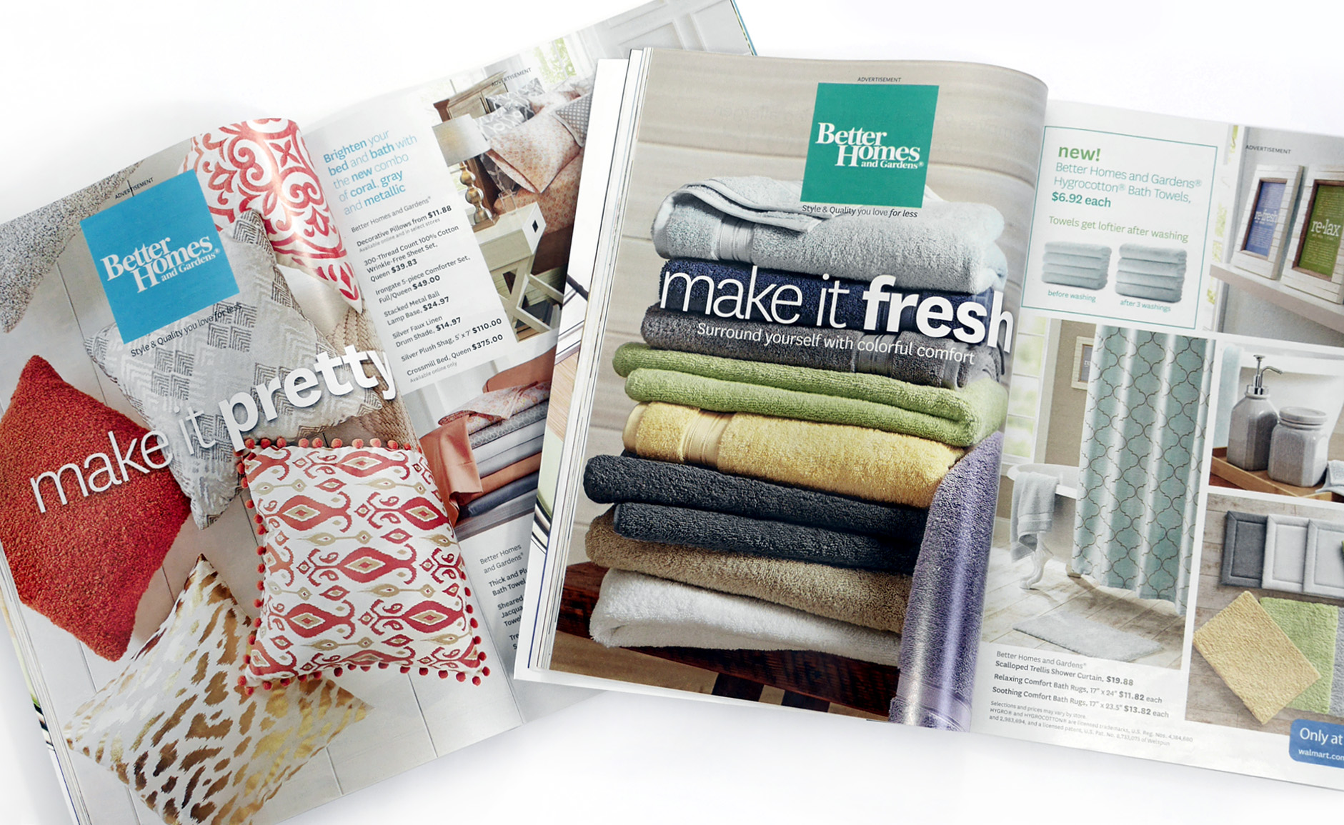 Better Homes and Gardens Print Ads /  Production