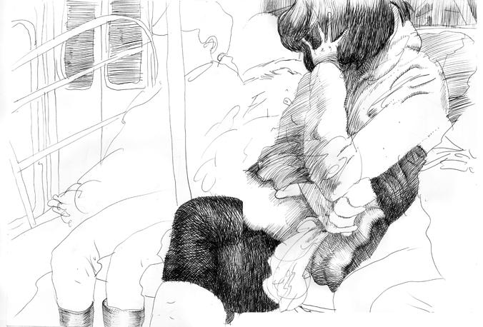 Ink sketchbook drawing, 2016
