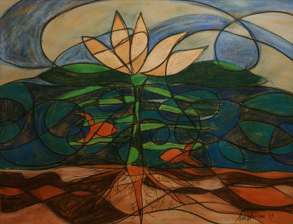 """Centered Stability"" by Ann Williams (renamed: ""Flourishing"" from Psalm 92:9-12)"