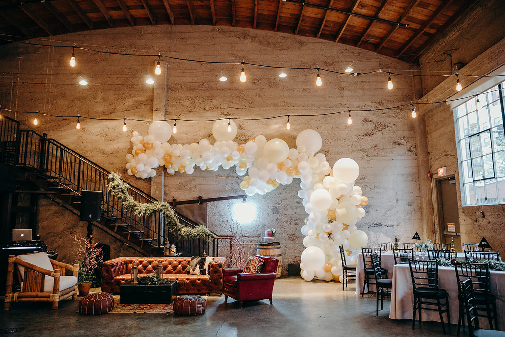 Edgy and modern wedding for the stylish and romantic couple, Cody and Jess in Downtown San Diego at the Luce Loft