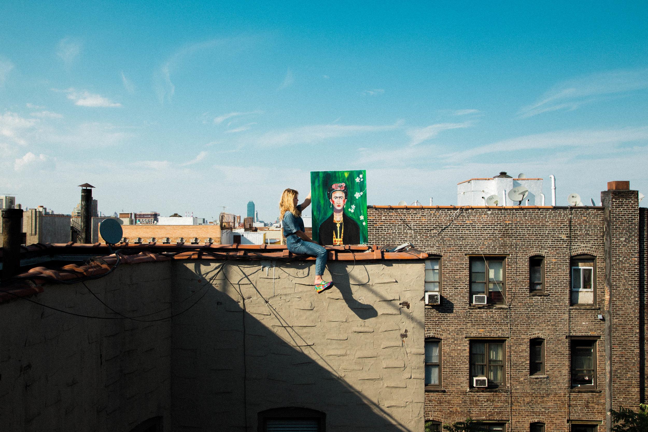 Frida Wakes Up Williamsburg,2015.Brooklyn, NY