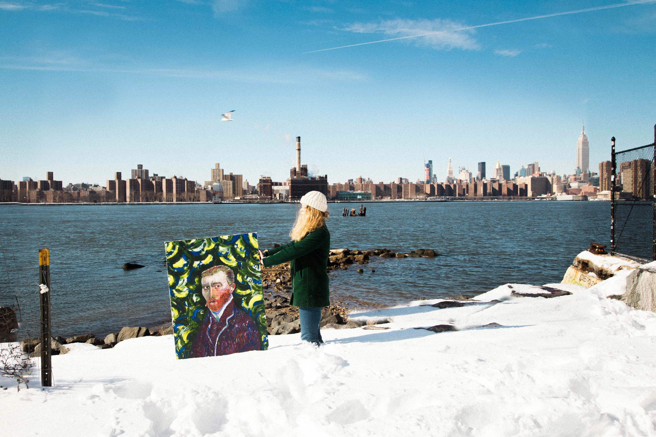 Van Gogh Starring At You, 2016. Brooklyn, NY