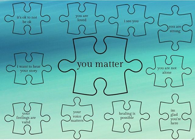 you matter. today  and  every day. . . . #connection #cometogether  #bellletstalk