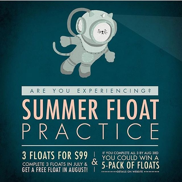 If you don't know, now you know! • • Check out the amazing Summer Float Practice package they have on now @thefloatcentre !! ✨✨✨