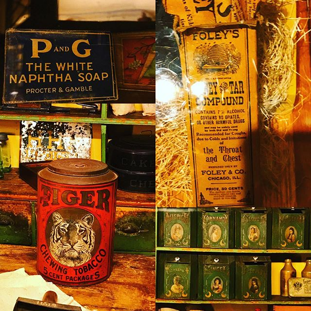 Pre-industrial! Seeking out early food and sundries labels at the Mercer Museum. Hungry is working on an art and history of food packaging project. Hope to be able to share more info soon! #preindustrialfood #preindustrial #foodeducation #foodhistory #packagedesign #pahistory