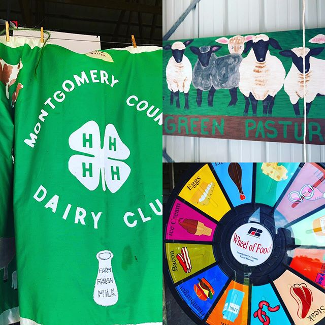 Farm food education at the Montgomery County 4-H Fair. #4h #farm #projectbasedlearning #youngfarmers #foodeducation #farmtotable #dairy #knowyourfood