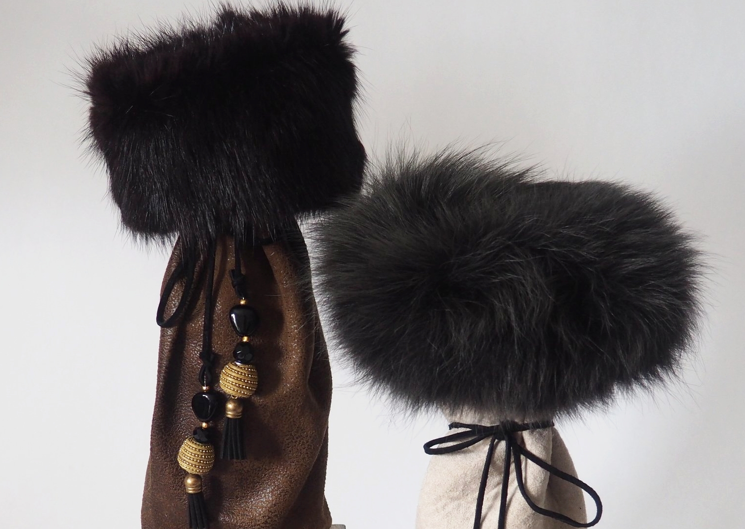 We pride ourselves on our creative details. - From coordinating ribbons, to unique beads and fine furs, every part of our product is chosen with care.