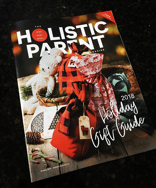 Excited to have been selected for the cover of @holisticparentmag. Check out their Holiday Gift Guide by local artisans! #christmas #gifts #giftbags #handmade