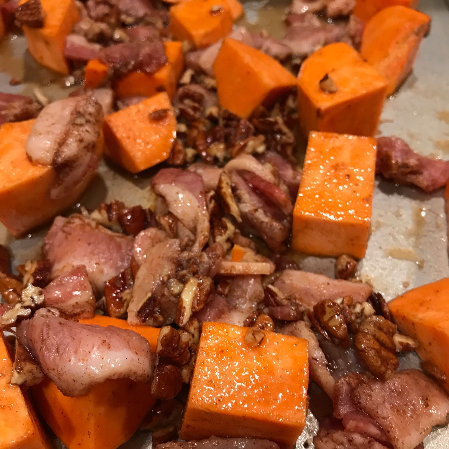 Sweet Potatoes Pecans Bacon Cooked.jpg