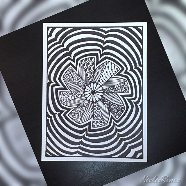 Mandala && patterns within 🖊🖤 • • • • • #nickierenee #mandala #mandala_art #mandaladoodle #mandaladrawing #sharpieart #sharpie #blackandwhite #patterns #artandsuch #zentangle #zentangleart #zentanglepatterns #zentangledoodle #zentangledrawing #mandalazentangle #artsyshit #itsallamess
