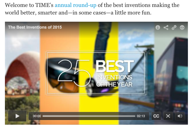 7. Time Magazine  The 25 Best Inventions of 2015