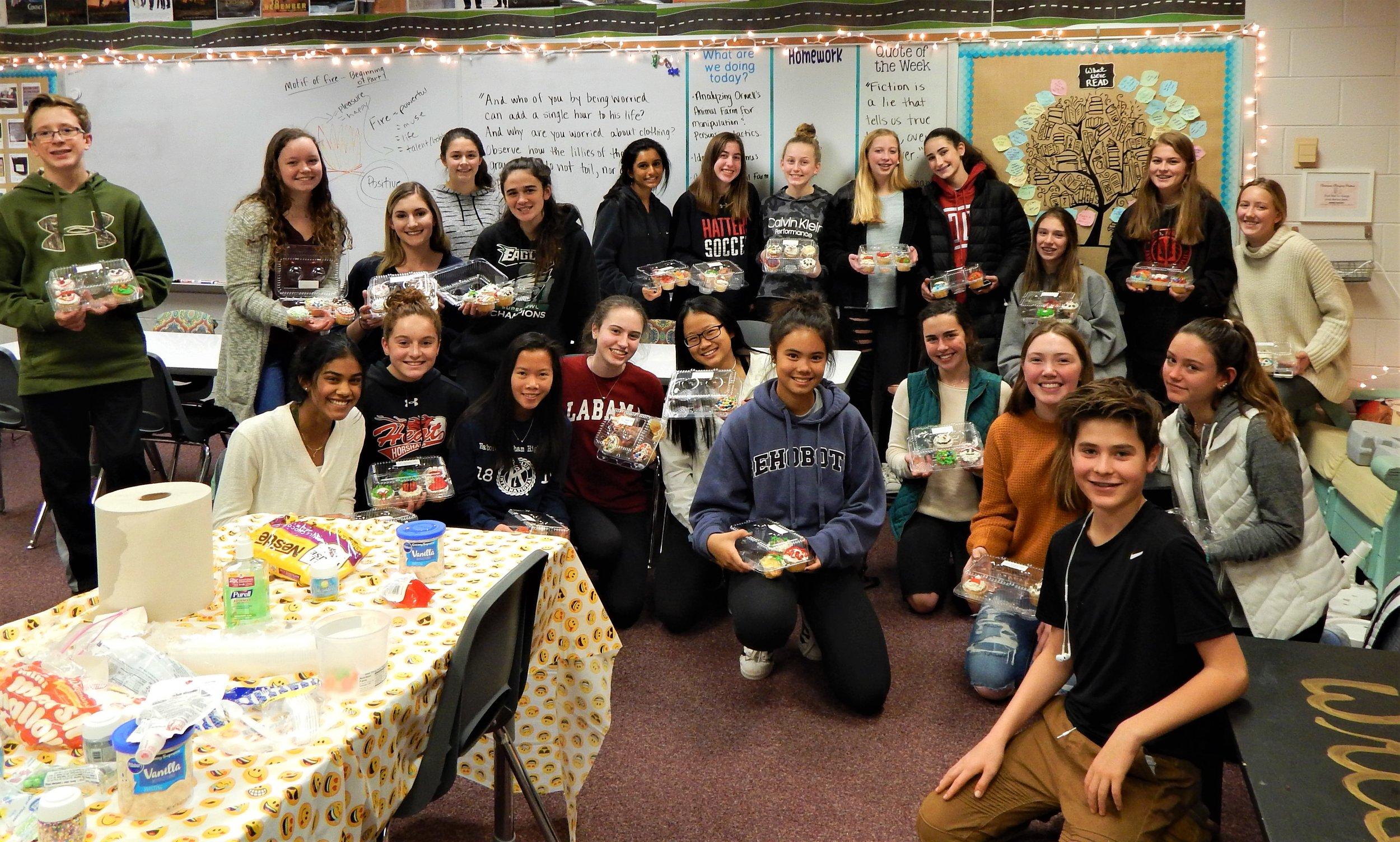HHHS 12-11 Cupcake Party Group.jpg