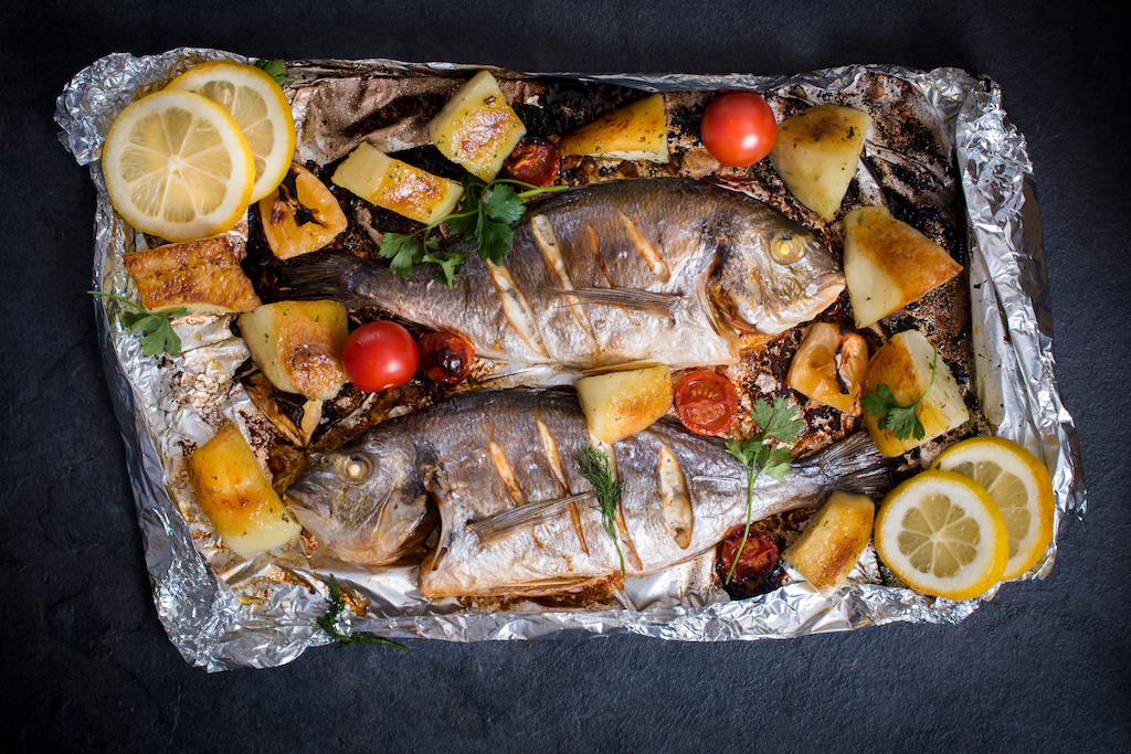 Copy of Whole Grilled Fish with Lime Salsa Verde