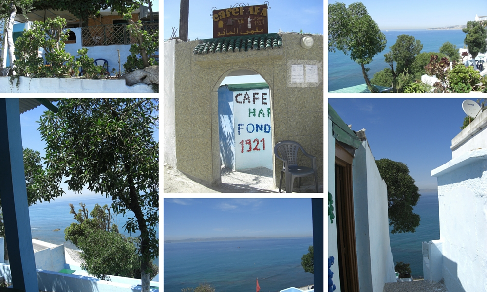 Cafe Hafa, founded in 1921, a Tangier icon that has avoided the dreaded developer!