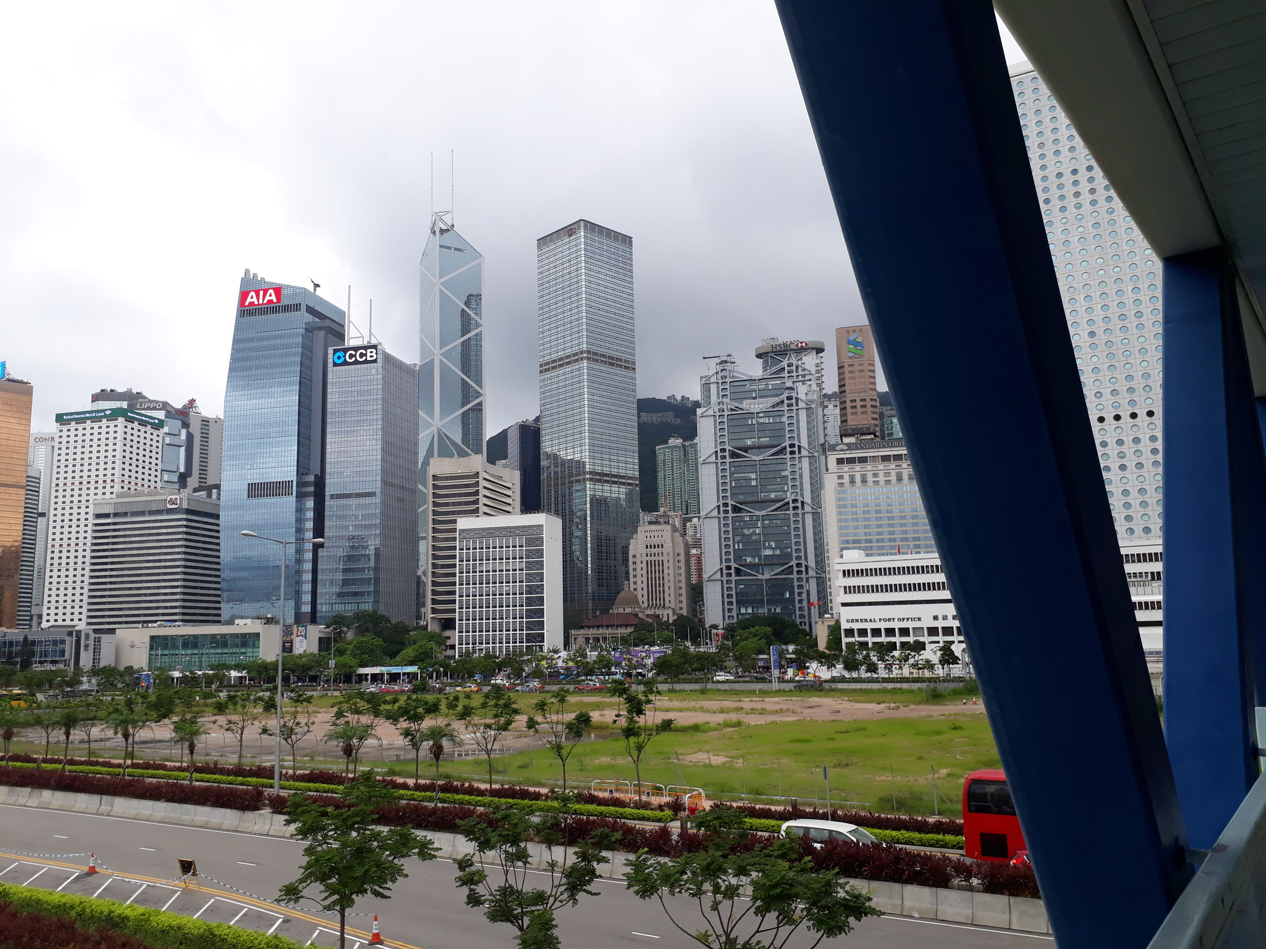 Hard to get my bearings in Hong Kong! The Law Courts and iconic Bank of China building look like toy-town nestled in the middle of all the skyscrapers.