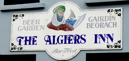 Sign on the pub wall