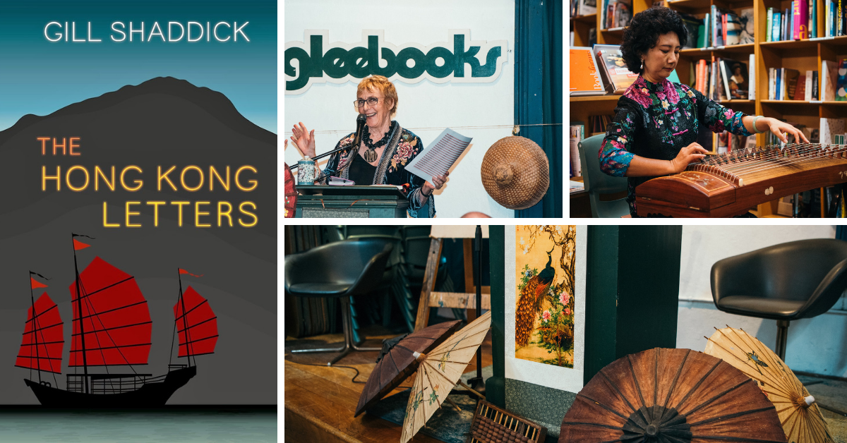The hong kong letters and pictures from the sydney launch in Gleebooks, march 2019