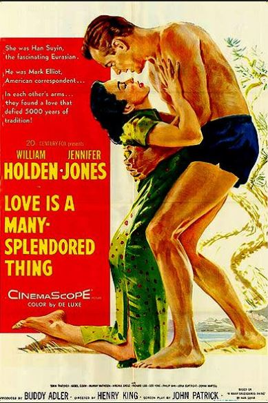 According to Wikipedia, the two stars loathed each other on set. Holden claimed that Jennifer Jones ate garlic before every love scene! The film made a lot of money for Han Suyin who wrote the original memoir.