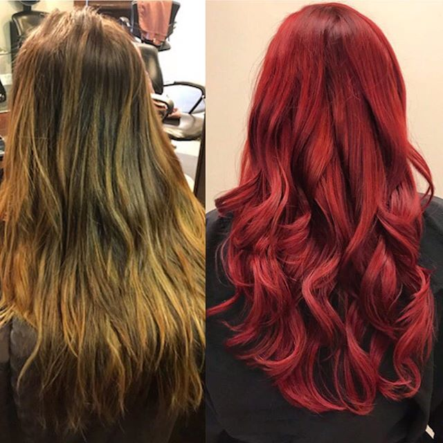 💥Lexi's color correction looks so good. A execution like this is full of patience, knowledge, skill and a good consultation. Great job! 💥#downtownyeg #protege #colorcorrection #beforeandafter #redheads #goldwell #knowledge #skill #mousybrowns #yeghair #hair #yeg #yyc #yvr #yyz