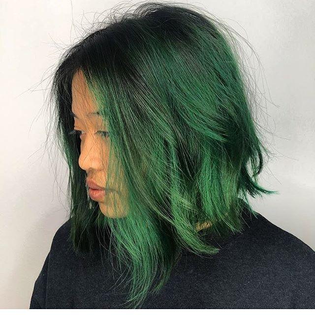 🎄 Hair by Maggie 🎄 #Christmas #tisstheseason #greenhair #hair #yeg #yeghair #edmonton #christmas #oldstrathcona #mousybrowns #pulpriothair
