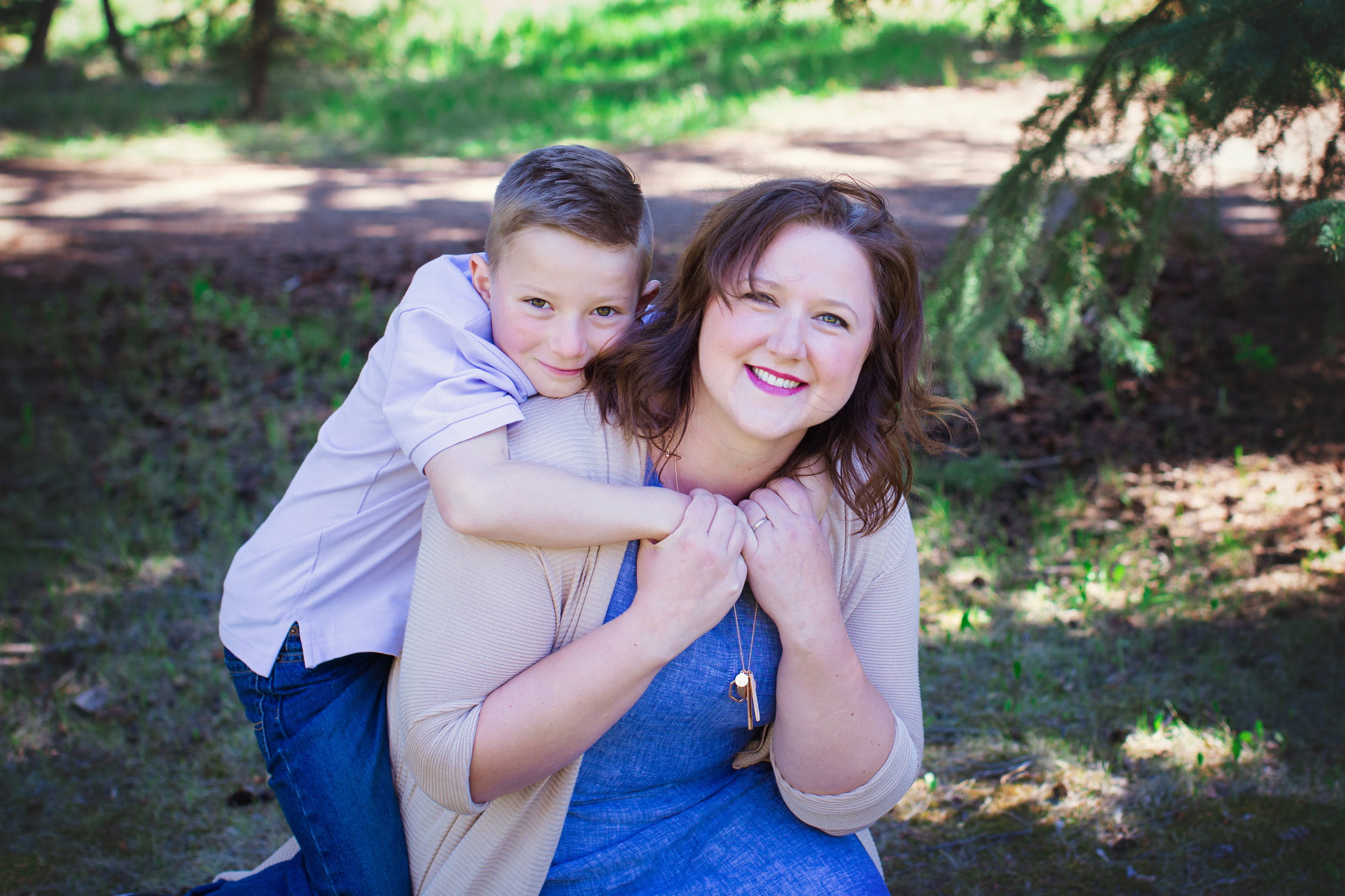 Mom and her son at the Park. Calgary Family Photographer. Milashka Photography