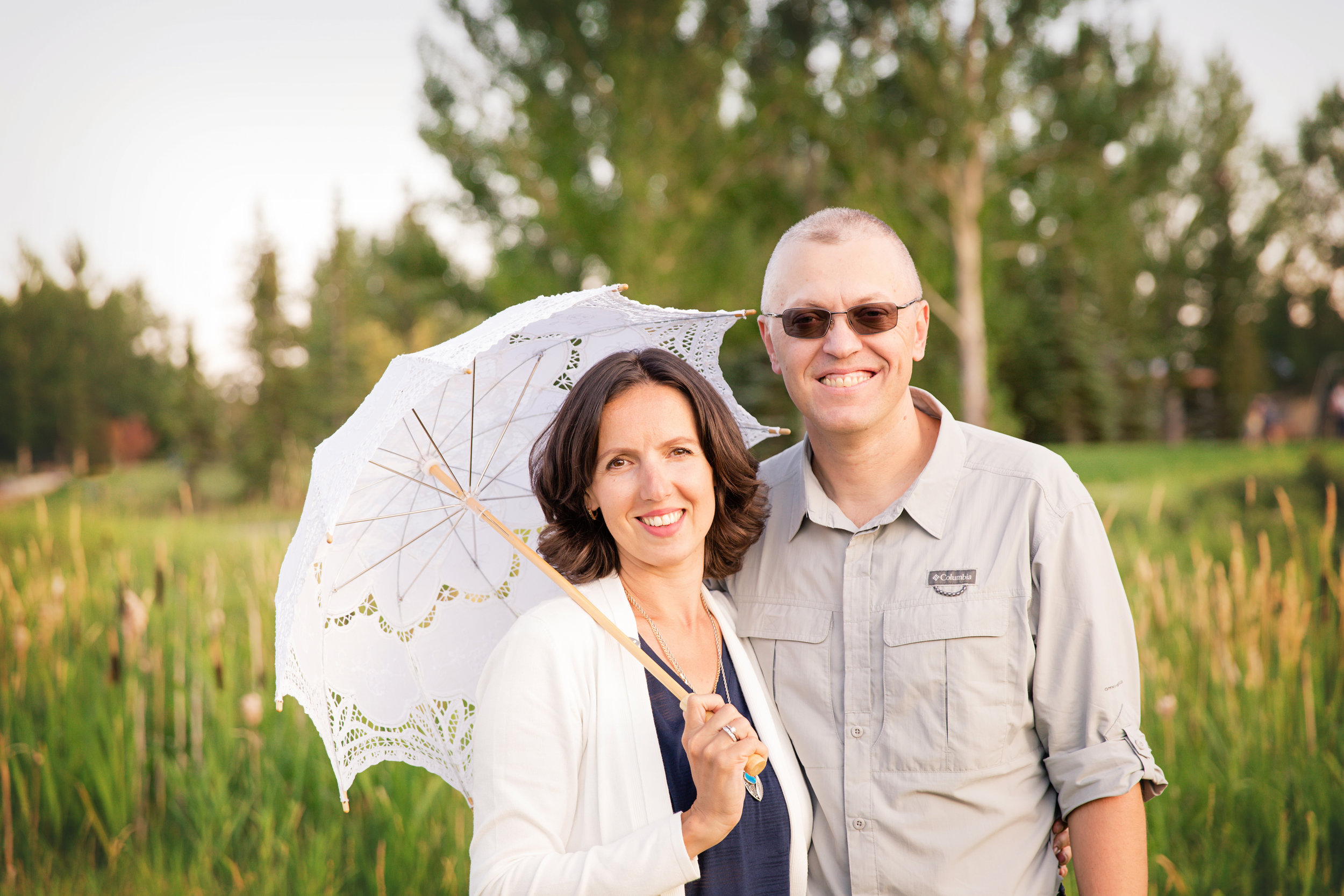 Lovely couple in Nose Creek Park, Airdrie, Alberta.  Airdrie family photographer - Milashka Photography
