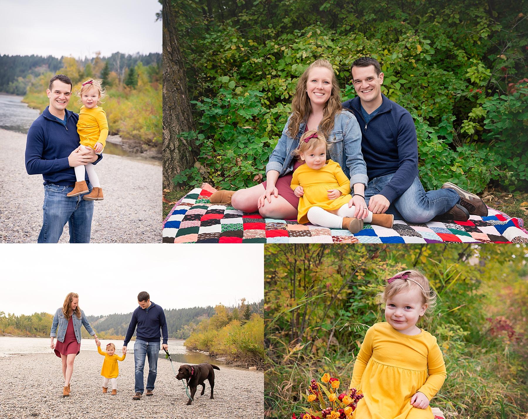 Calgary Fall Mini Session - Edworthy Park. Calgary Family Photos. Milashka Photography