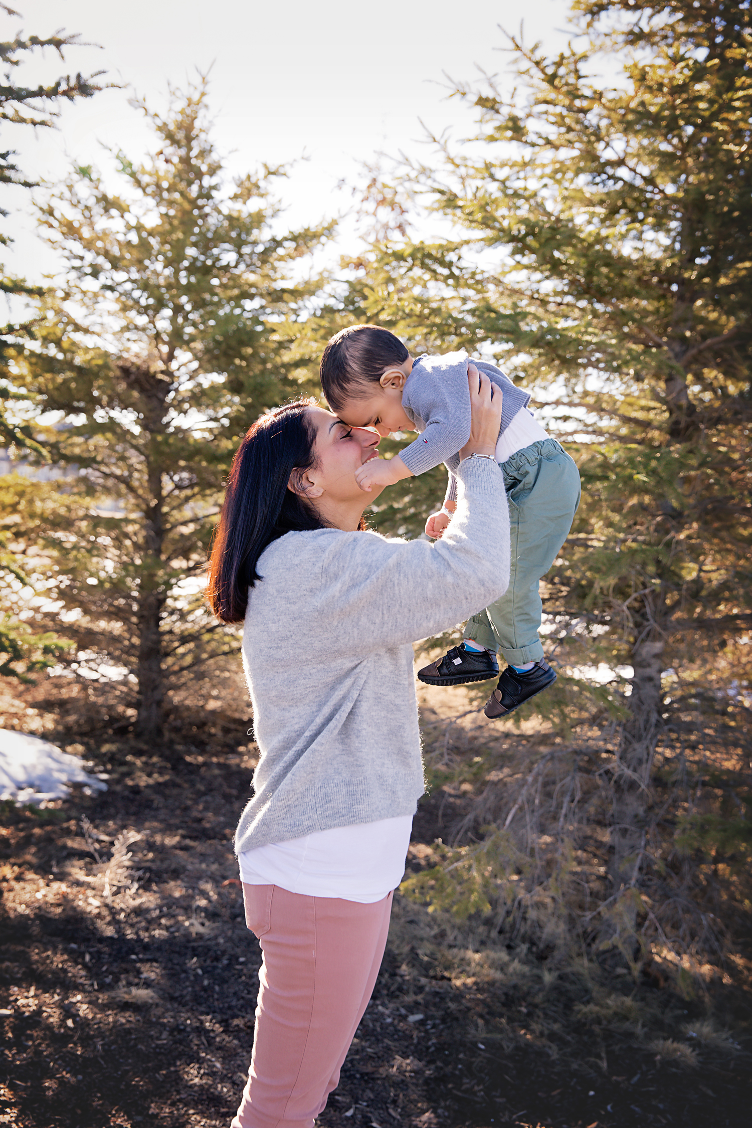 Portrait of a mother and son. Calgary Family Photographer