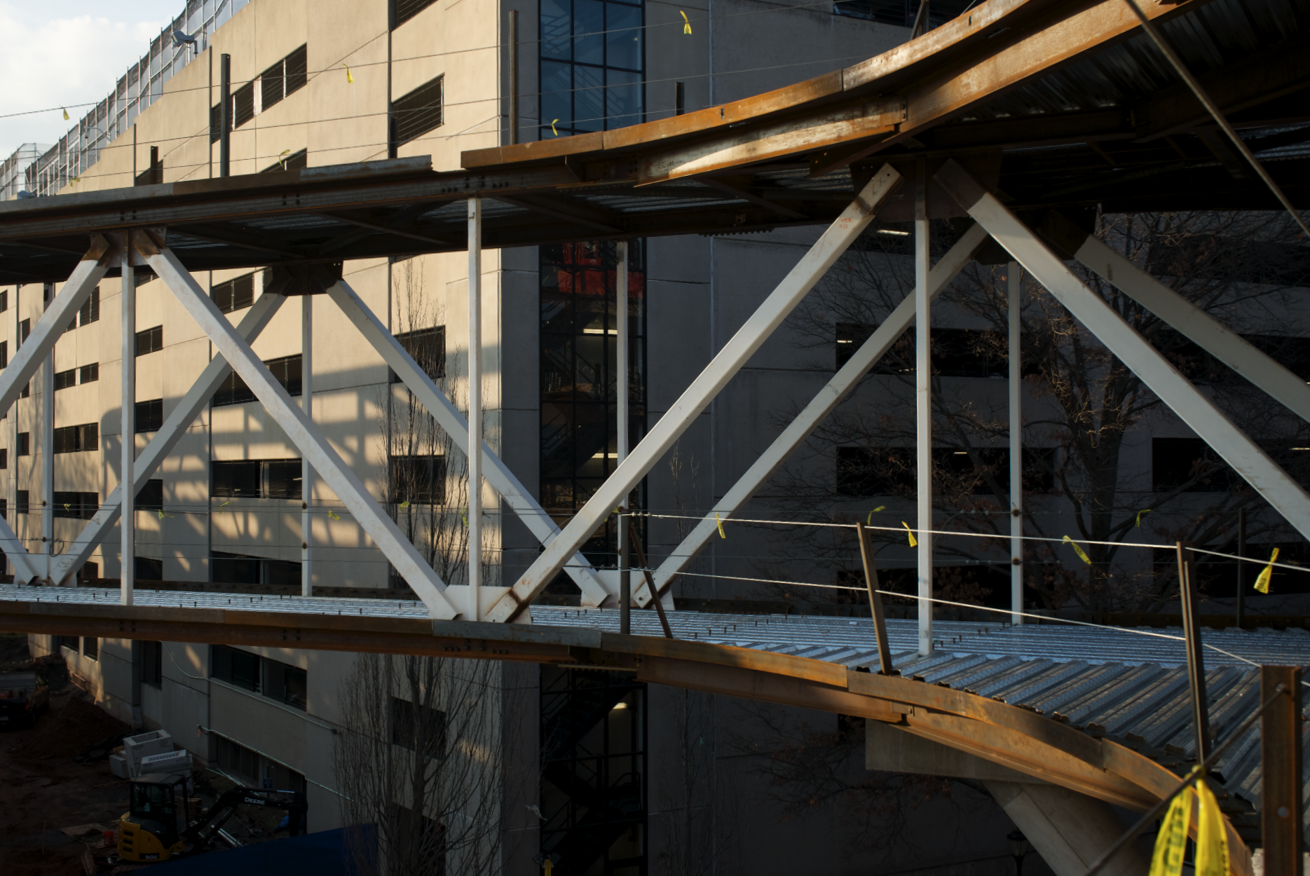 Connecting bridge during installation. Still from Production.