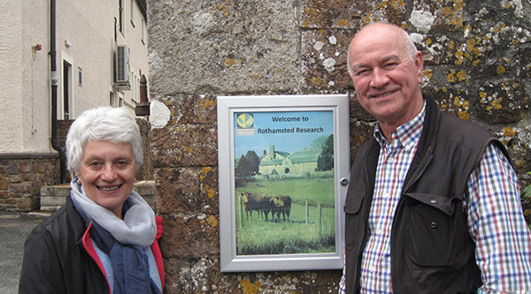 Gary Nairn AO (right) with Rose Nairn, at Rothamsted Research in the UK