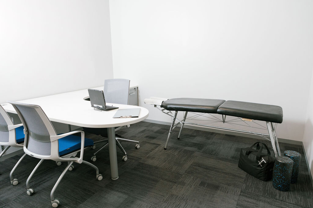 The minimal footprint of AlignHQ equipment as it would be setup during an onsite care visit.