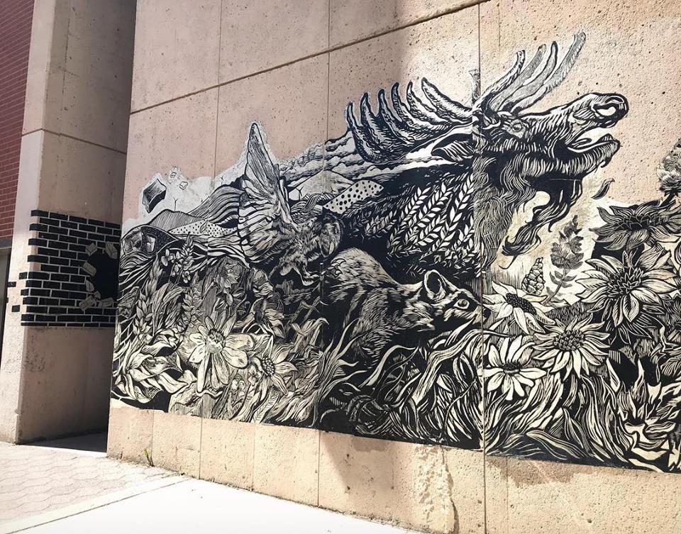 Mural at Washington State University