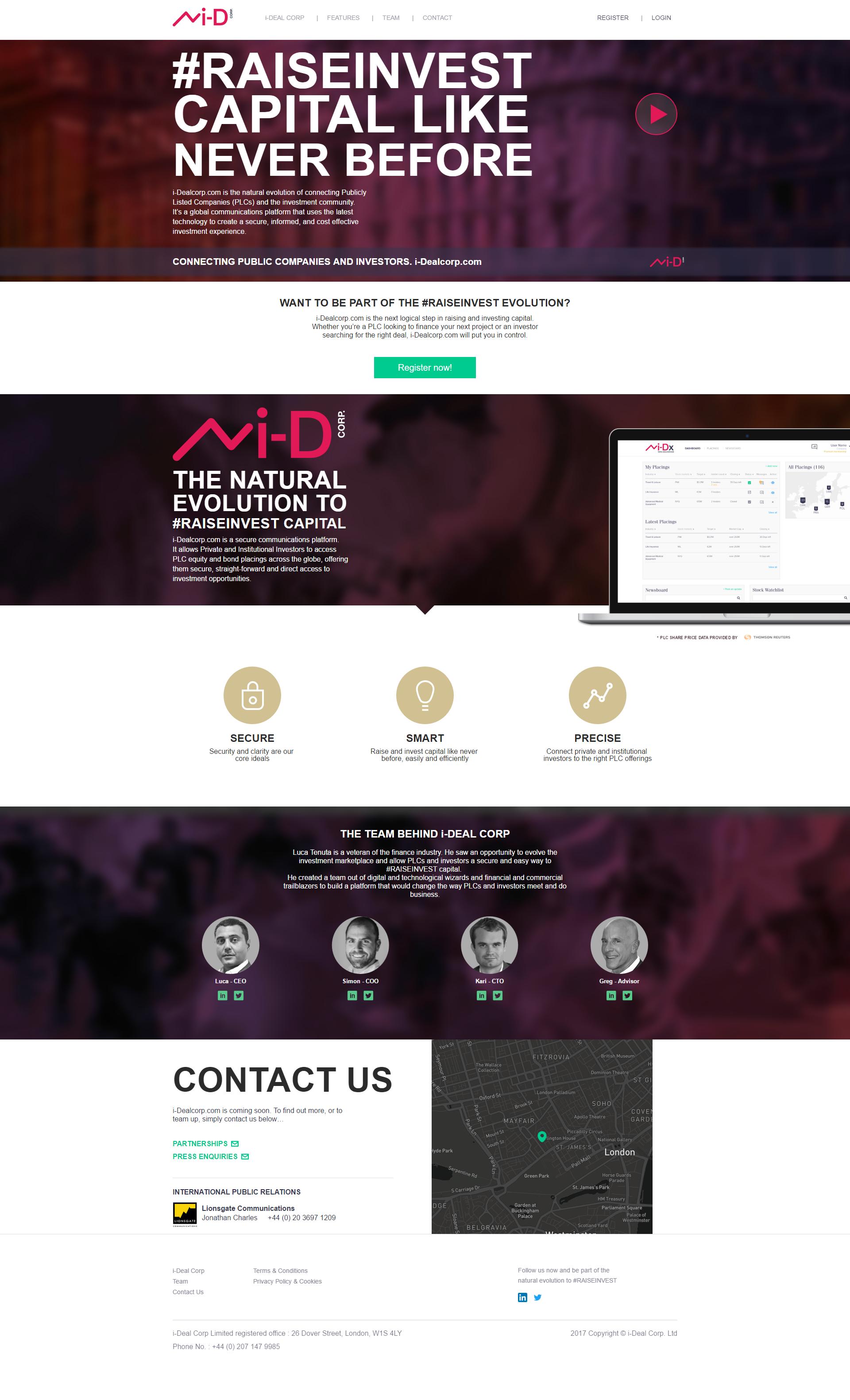 i-Dealcorp.com's Home page