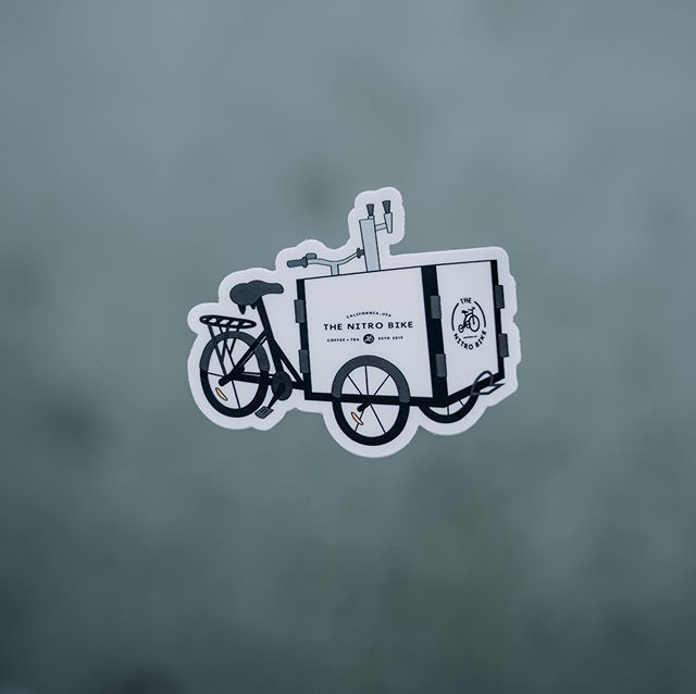 """We love these sweet stickers designed by @allisonsl_27 Find them at any of our pop-ups for $1✨ Find the Bike or our brand new """"Companion"""" cart tomorrow (8/3) at @thegardenstulare from 9a-1p or at @visaliacyclery from 10a-12p On the menu :  Nitro oatmilk latte Nitro raspberry green tea Iced coconut oolong Iced guava lemonade Flash brew coffee 📸: @nolens.photography"""