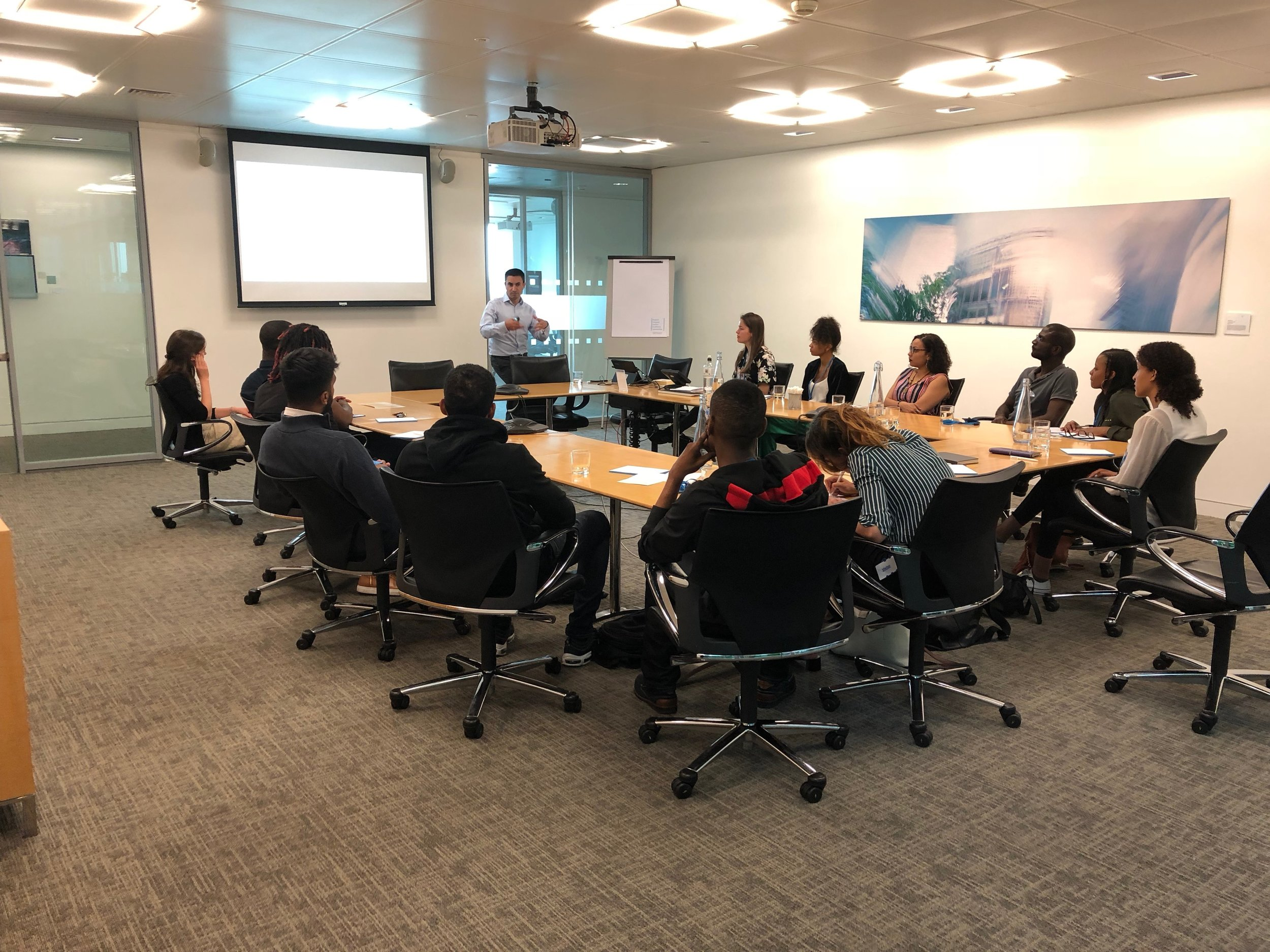 Great workshop hosted by Barclays in Canary Wharf
