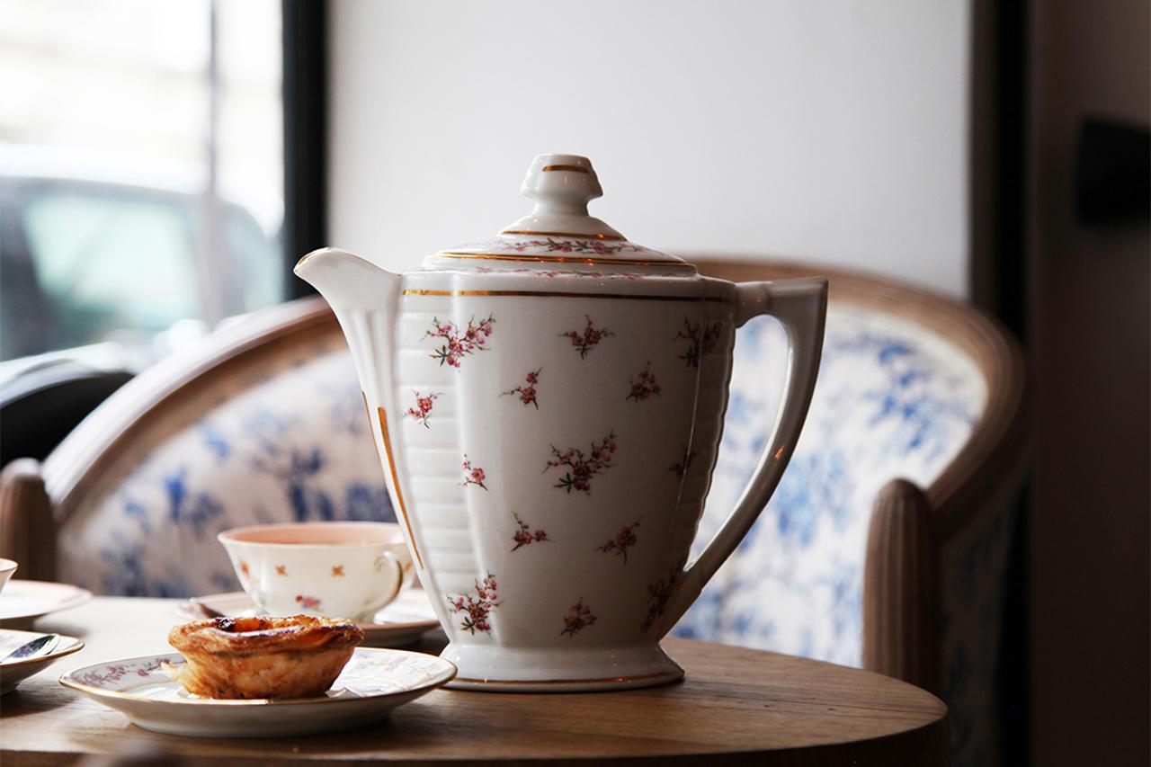 Pasteis de nata & Dammann tea