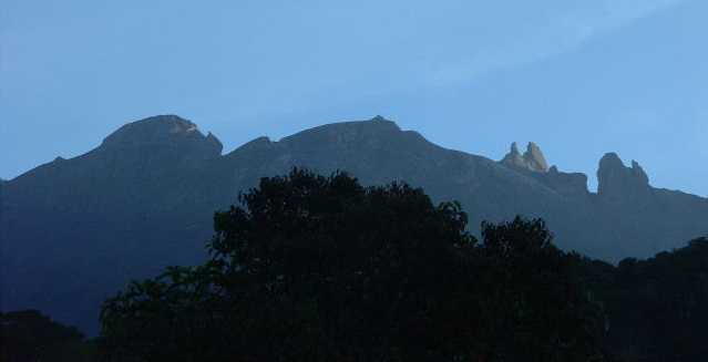 Mount Kinabalu, Borneo - the highest peak between the Himalayas and New Guinea (seen from about 5325 feet)