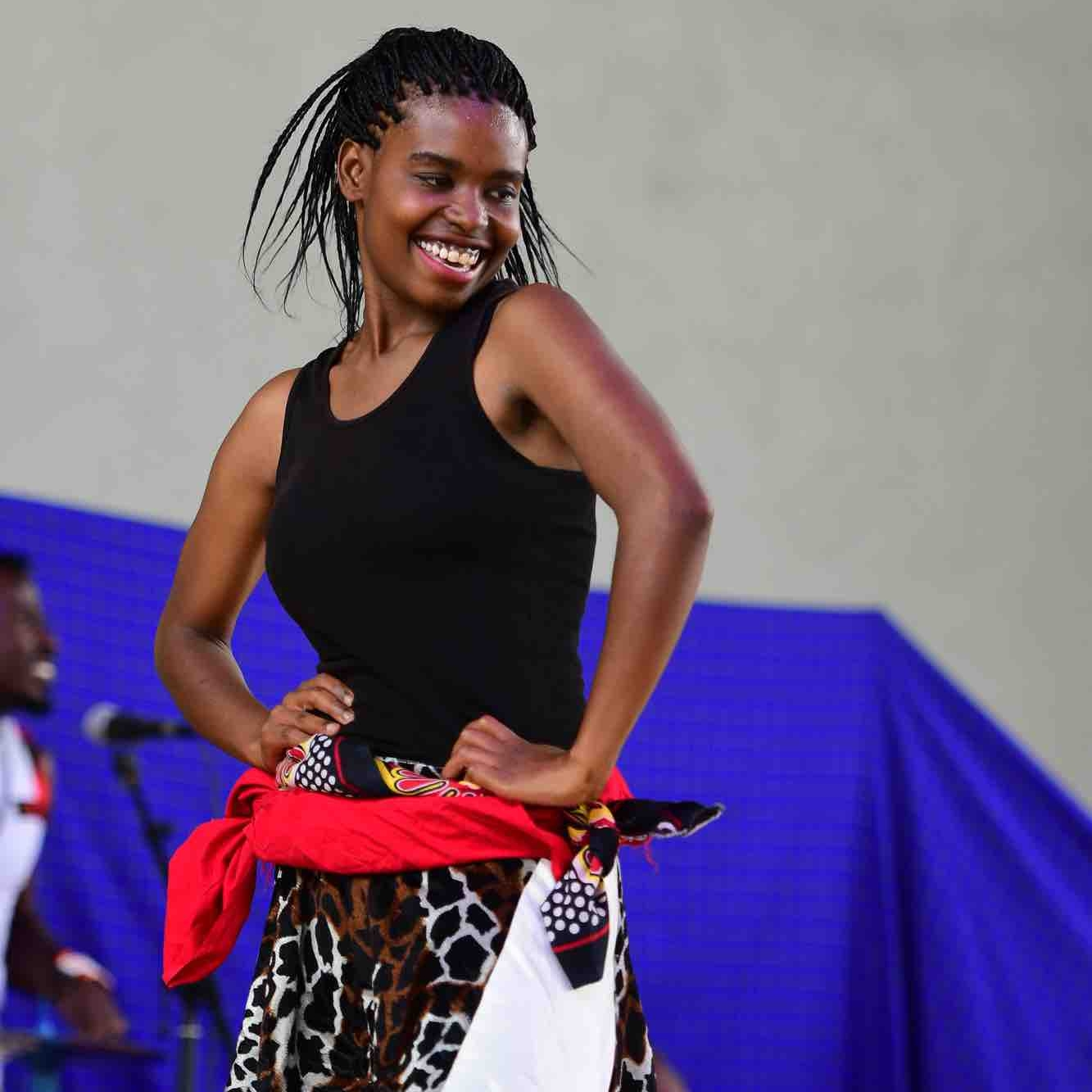 JOANITHA EMMANUEL - Joanitha learned to dance and drum from the music department at Tumaini University. She currently teaches the students at Uraki Secondary School in the CAC outreach program. She also studied violin from 2007-2017 with Carol Stubbs and occasionally performs with the CAC fusion band.