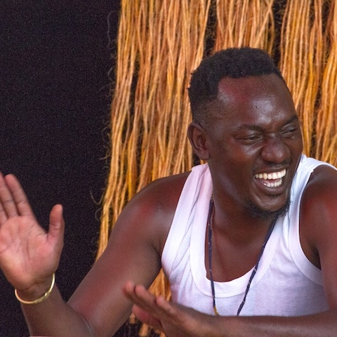 SAIDI KASSIM - Saidi began playing music with the Nizam Cultural Group, then joined the Oya Theatre. He participated and won the International Music Competition, Music Crossroads, in Dar es Salaam in 2003. As part of their winning tour they visited nine countries, including Germany, Croatia and Italy and was awarded the best artist by the Minister for Information, Culture and Sports. He has also performed with the Mjomba band with Mrisho Mpoto, most recently in 2018. He is the teacher of the CAC group for traditional music, and plays different instruments including drums and marimba, and makes drums.