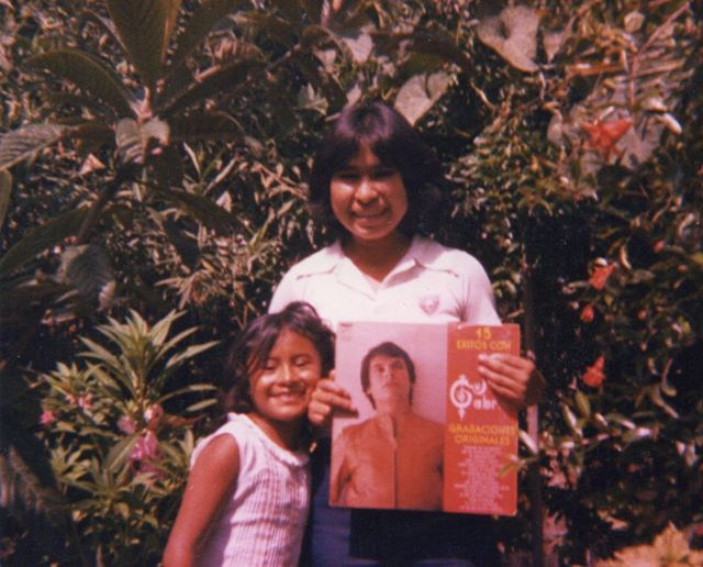 Lucky for us we get to celebrate our Madres for two days! This is probably one of my favorite pictures of mi madre when she was a teens fan girling on some Juan Gabriel. Feliz día de las Madres