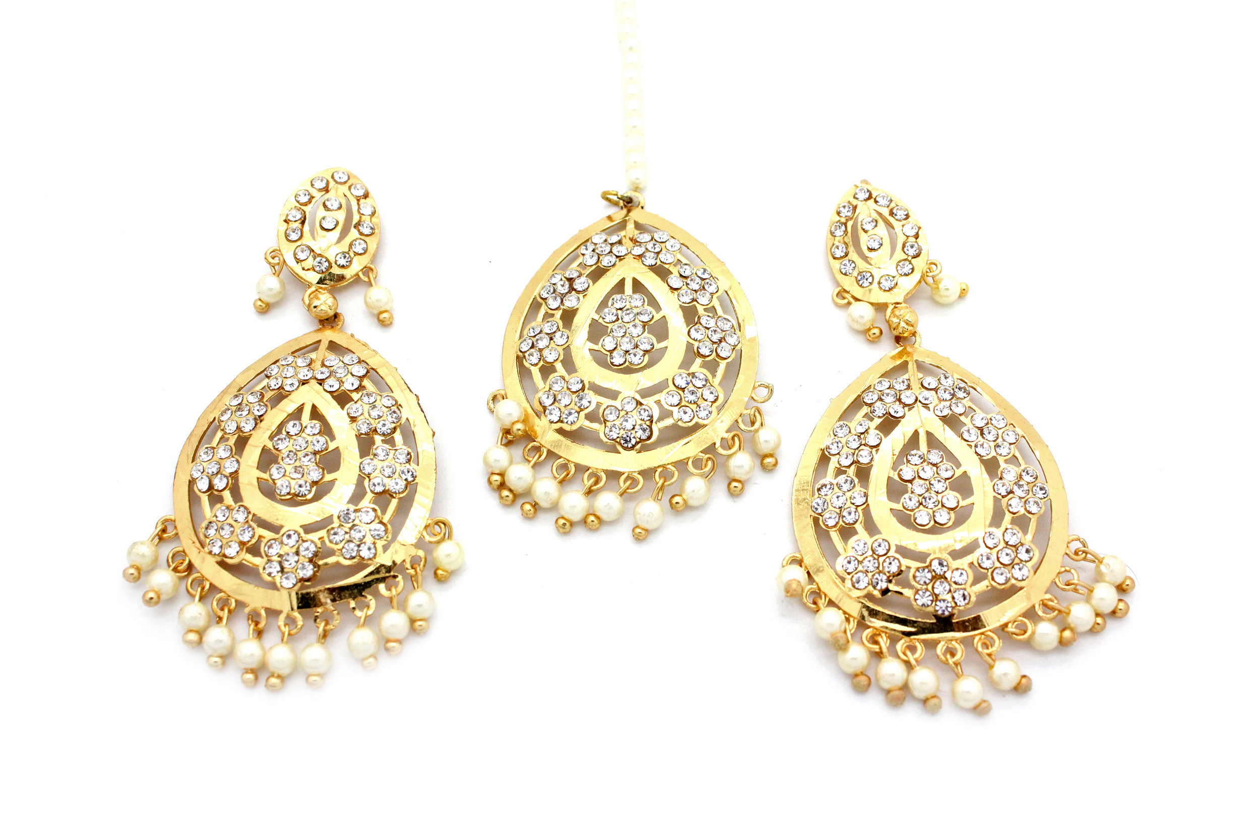 Vintage Indian Tikka & Earring Set