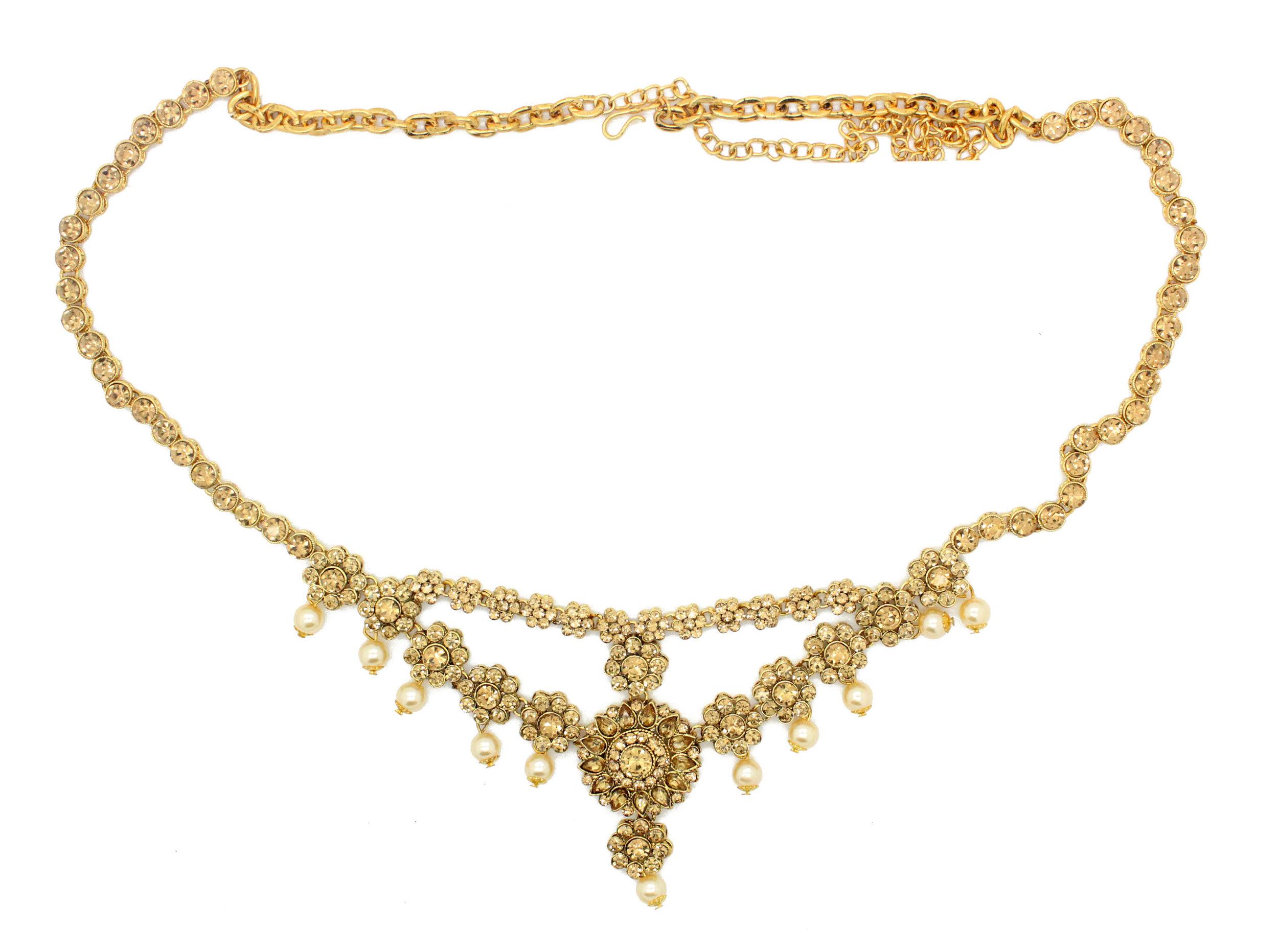 Aheli Ethnic Faux Stone Waist Charm Jewelry Kamar Patta Belly Chain Indian Traditional Sari Saree Belt for Women
