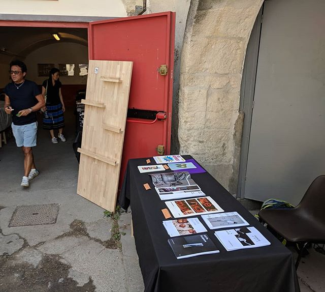 Starting soon. Come by to look at zines/ dummy / book.  At Cosmos la bodega Rue de la Paix, Arles.  Today & tomorrow 3&4th 12-20h.  Bring samosas.