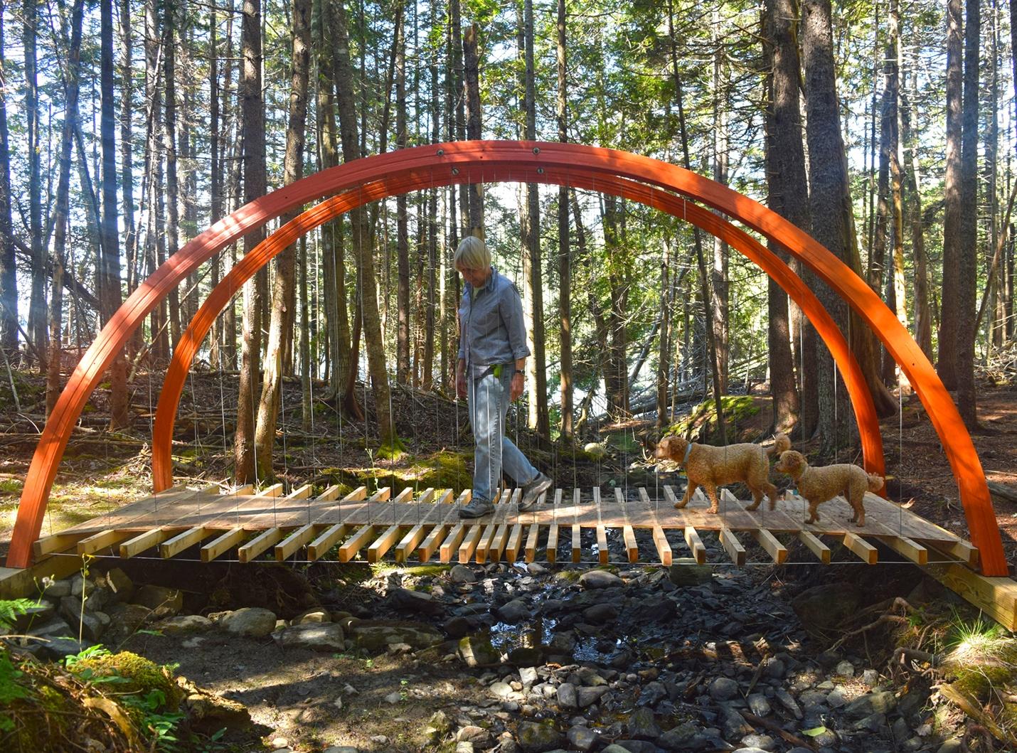 Islesboro Island Hiking Trail Footbridge - 2017