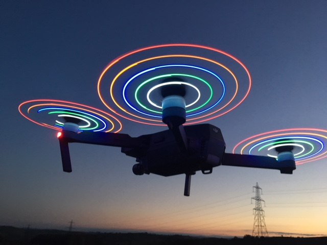 DJI Mavic with Light up props