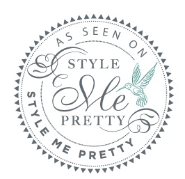 As Seen on Style Me Pretty Badge | Green Apple Event Co